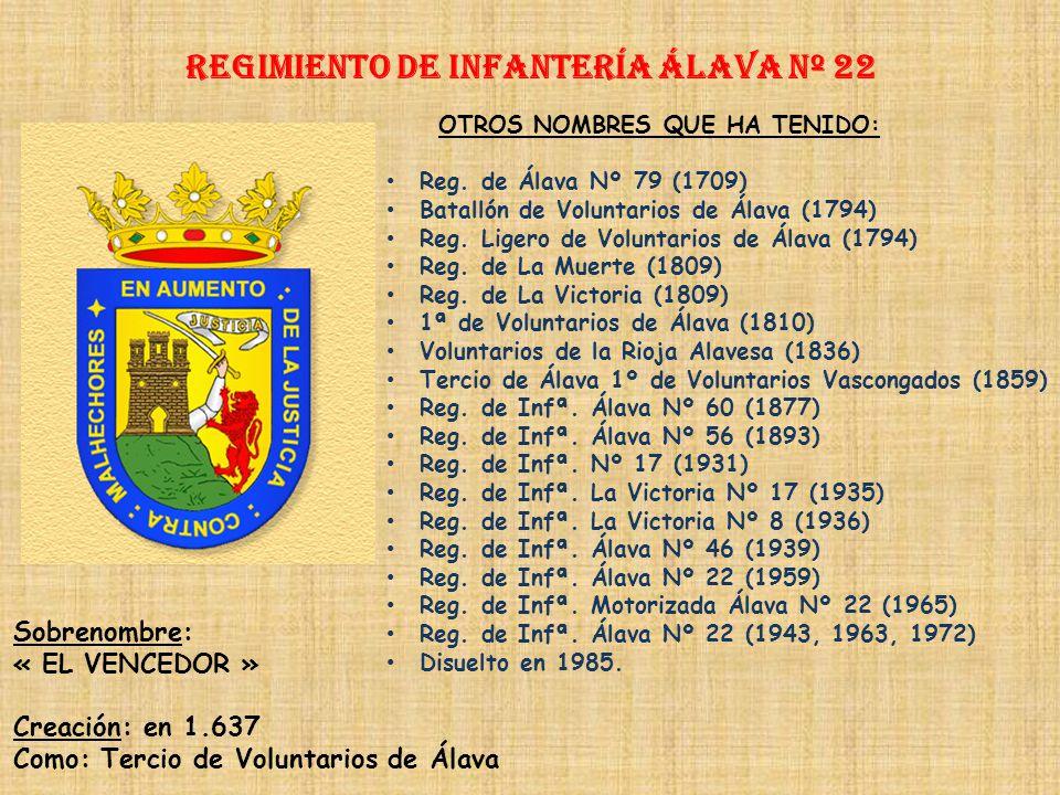 Regimiento de Infantería Álava nº 22