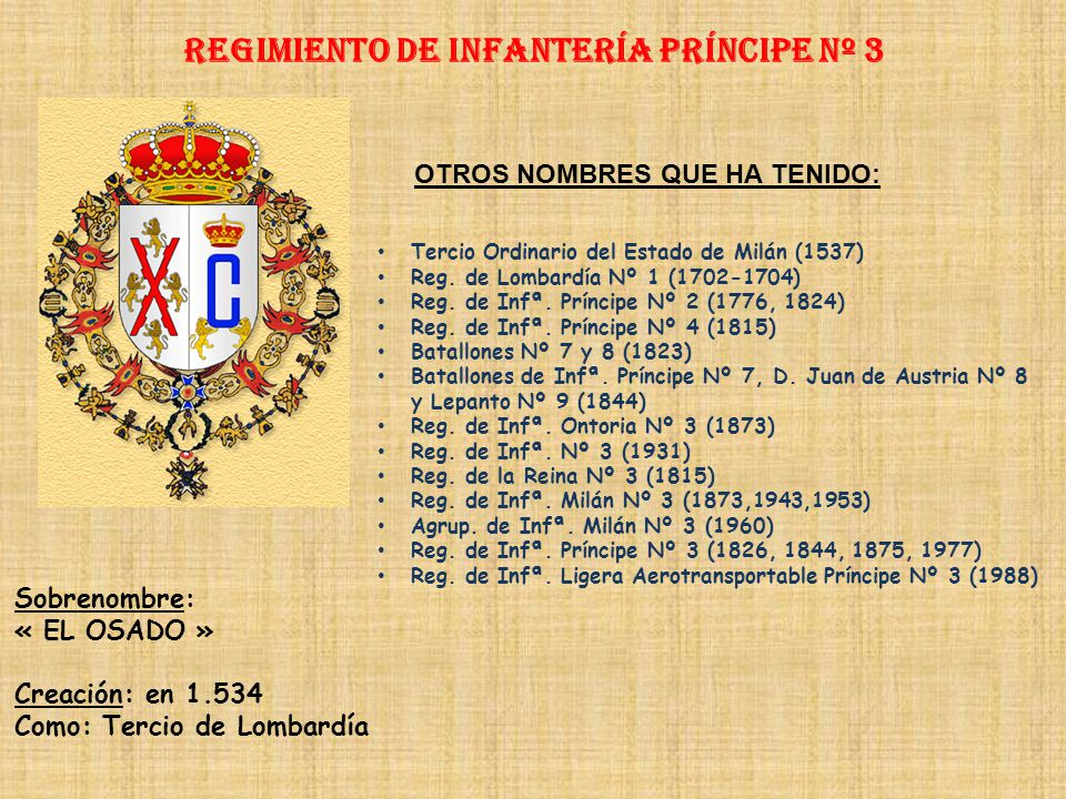 Regimiento de Infantería PRÍNCIPE nº 3