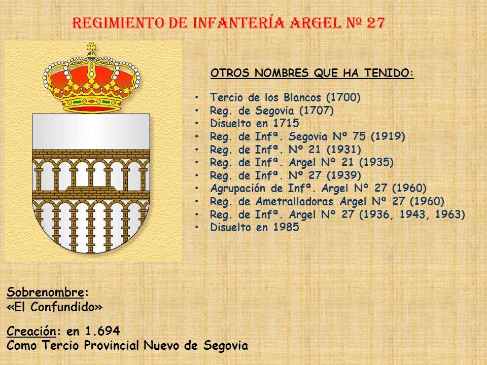 Regimiento de Infantería ARGEl nº 27