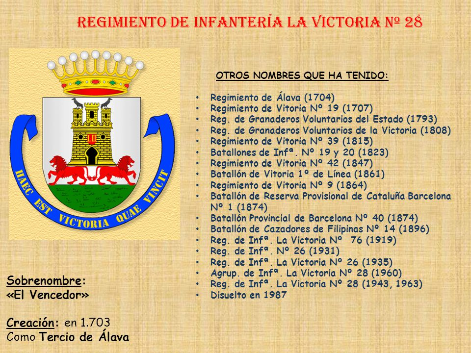 Regimiento de Infantería LA VICTORIA nº 28