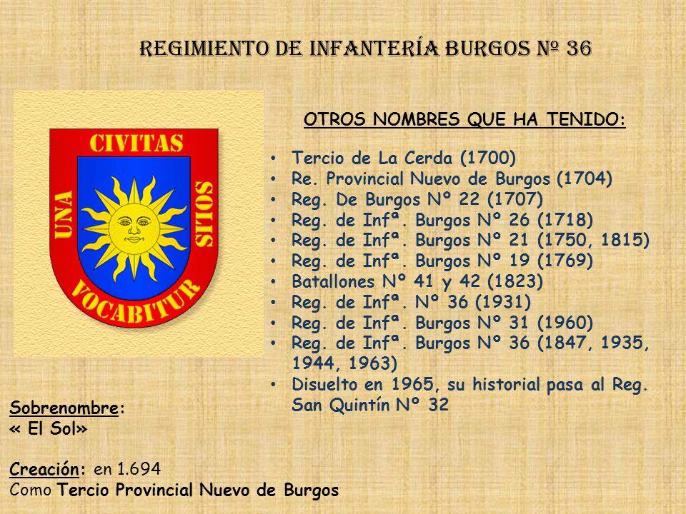 Regimiento de Infantería burgos nº 36