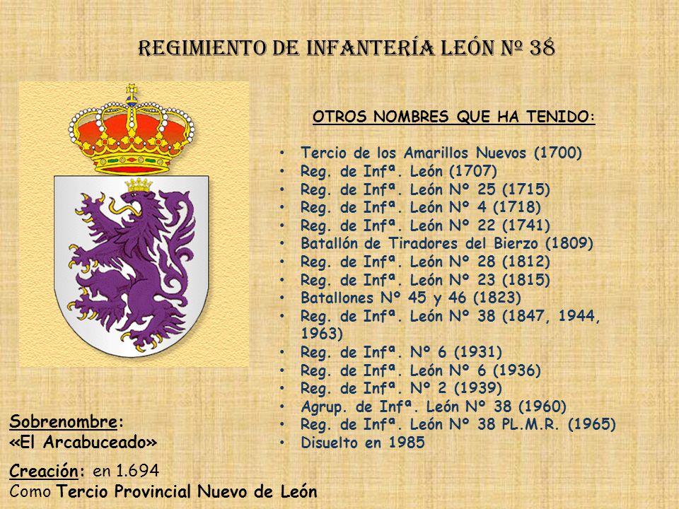 Regimiento de Infantería león nº 38