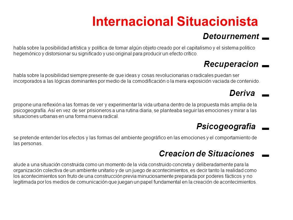 Internacional Situacionista Creacion de Situaciones
