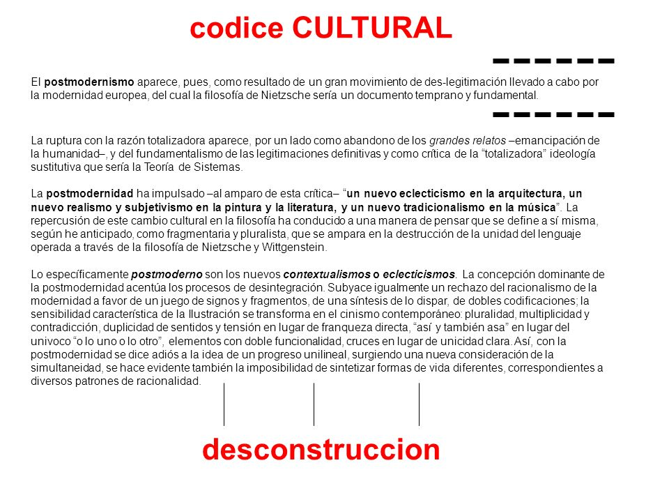 codice CULTURAL desconstruccion