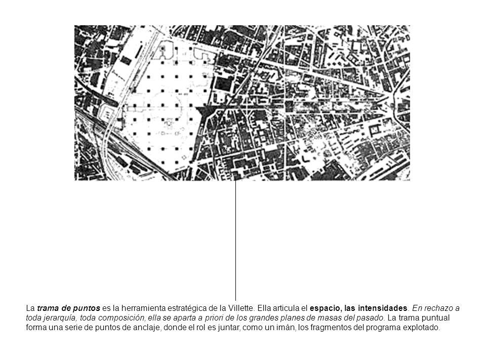La trama de puntos es la herramienta estratégica de la Villette