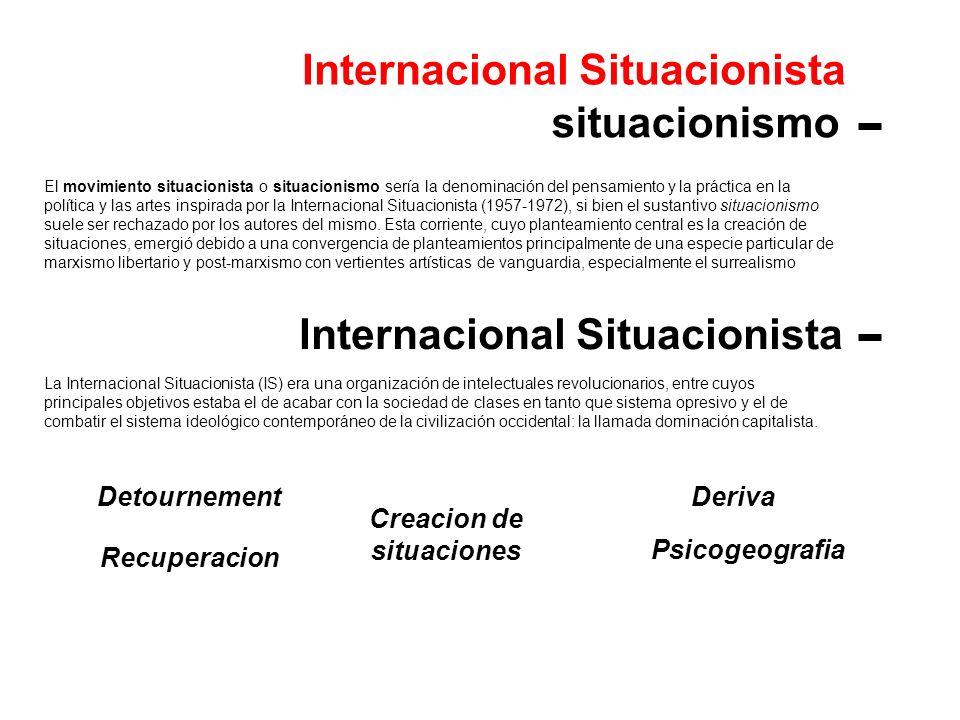 Internacional Situacionista situacionismo Internacional Situacionista