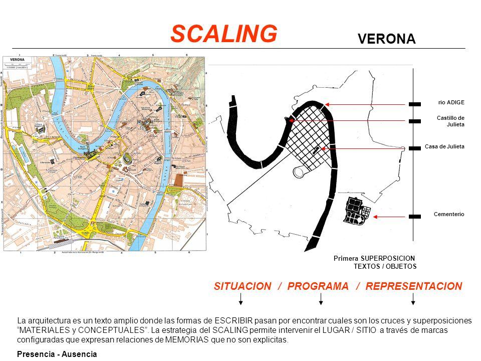 SCALING VERONA SITUACION / PROGRAMA / REPRESENTACION