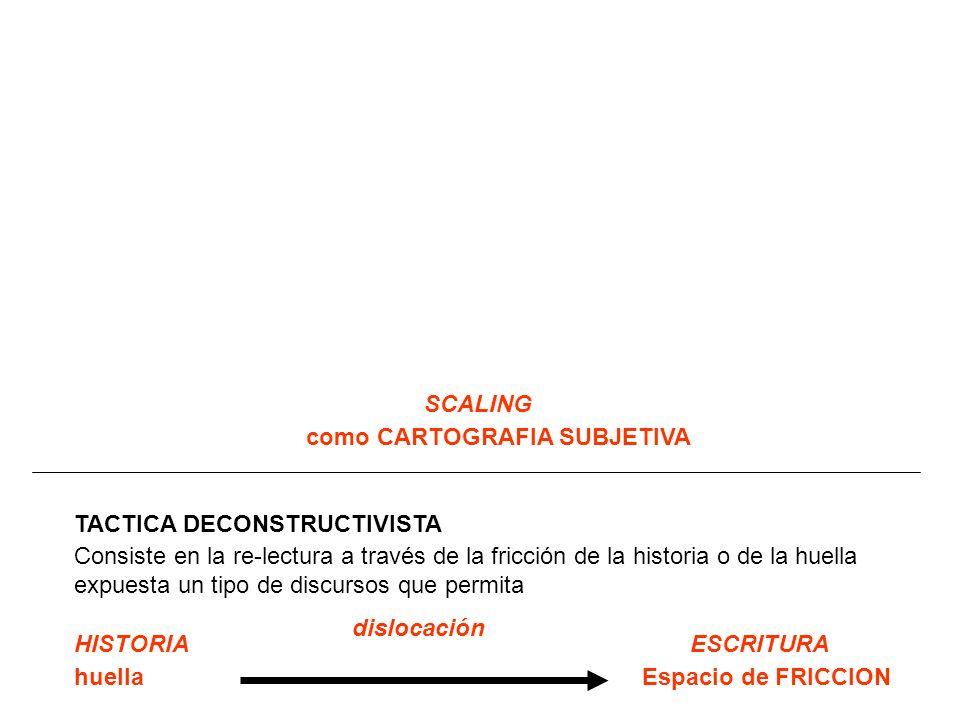 SCALING como CARTOGRAFIA SUBJETIVA. TACTICA DECONSTRUCTIVISTA.