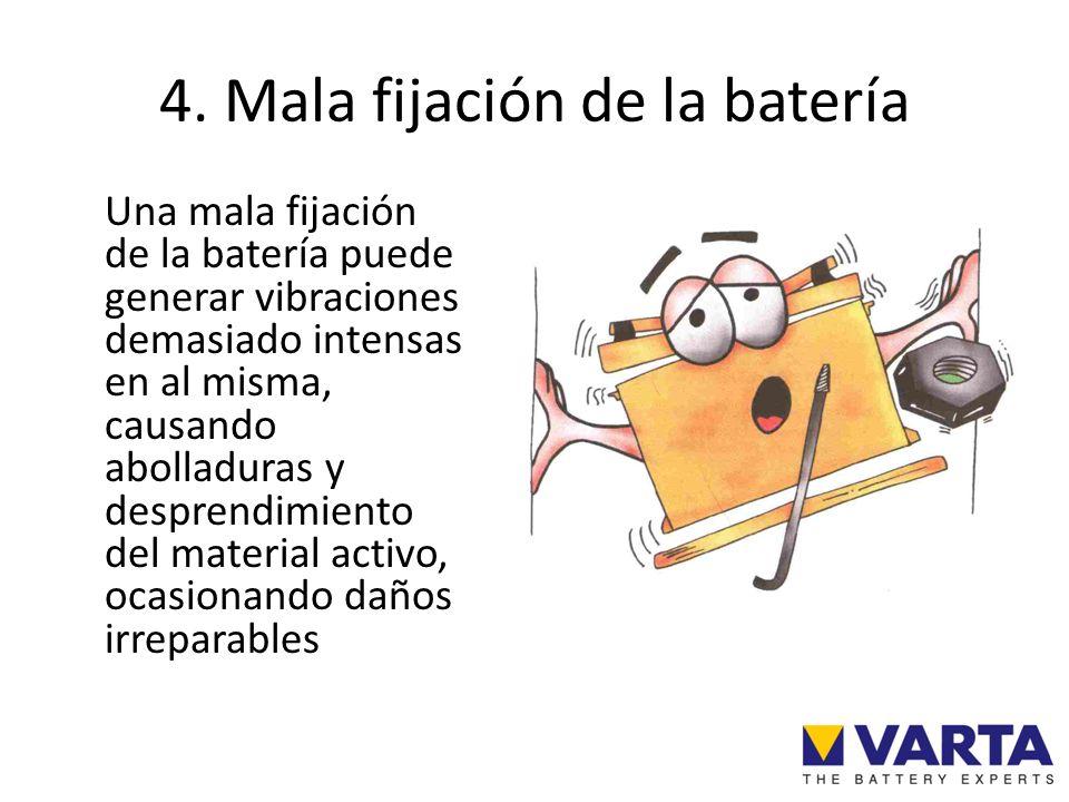 4. Mala fijación de la batería