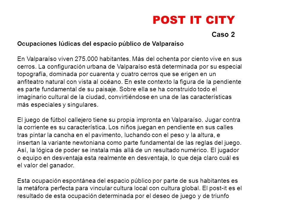 POST IT CITY Caso 2. Ocupaciones lúdicas del espacio público de Valparaíso.