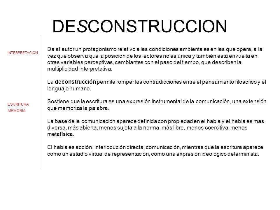 DESCONSTRUCCION