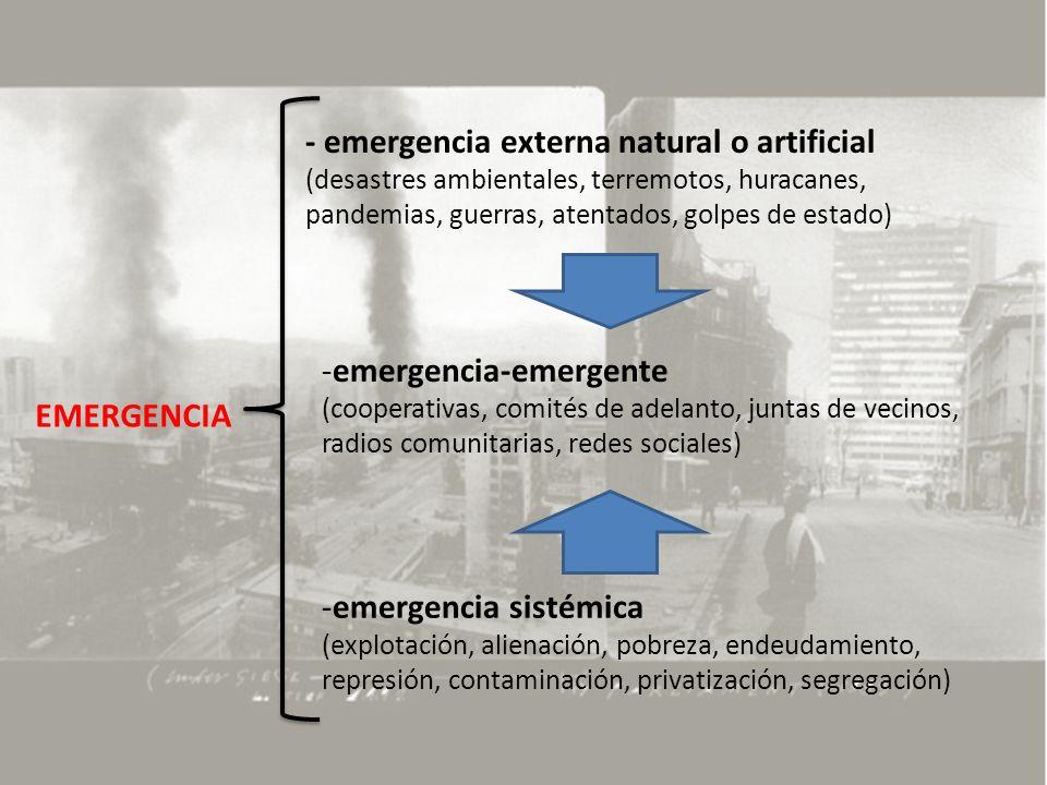 emergencia-emergente EMERGENCIA