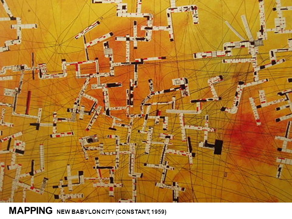 MAPPING NEW BABYLON CITY (CONSTANT, 1959)