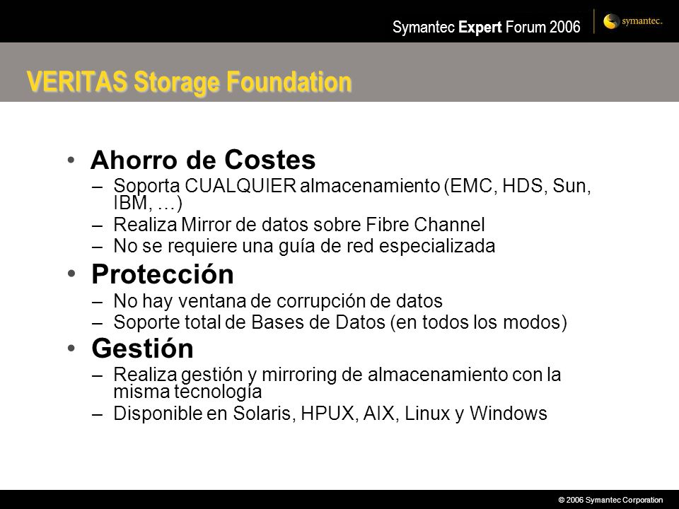 VERITAS Storage Foundation