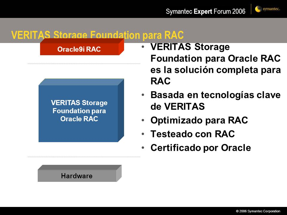 VERITAS Storage Foundation para RAC