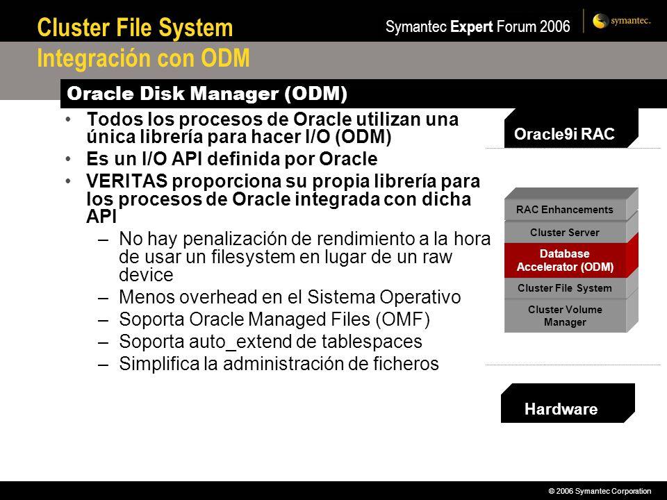 Cluster File System Integración con ODM