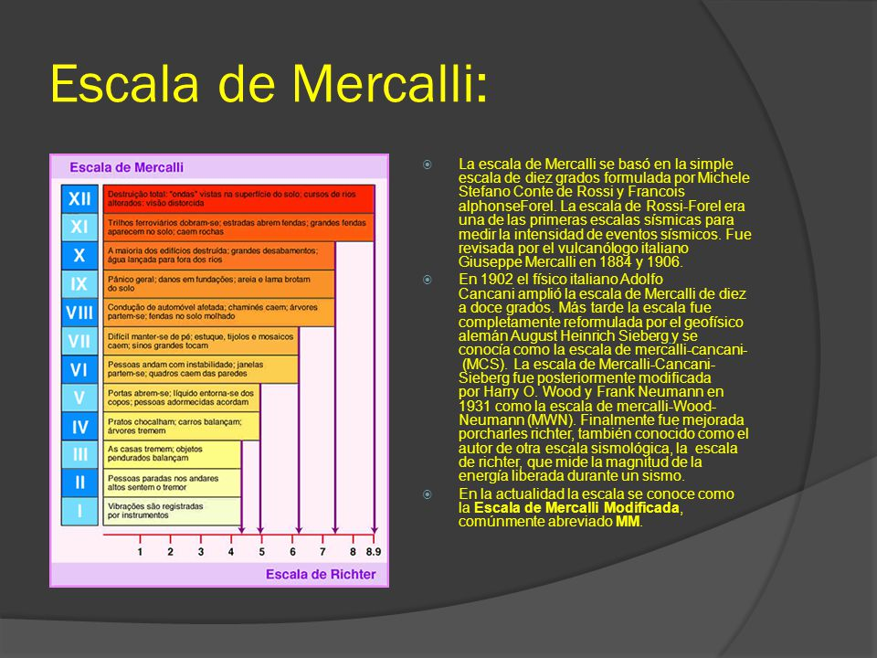 Escala de Mercalli: