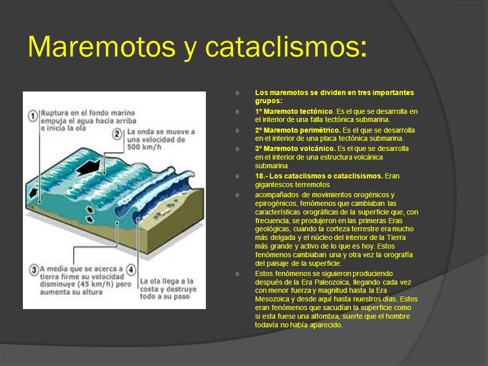 Maremotos y cataclismos: