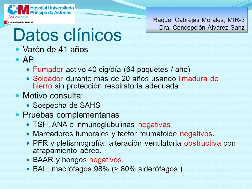 Datos clínicos Varón de 41 años AP Motivo consulta: