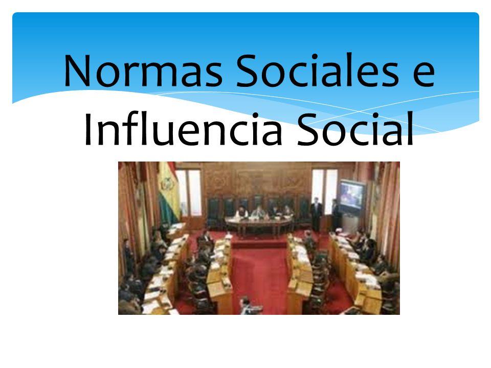 Normas Sociales e Influencia Social