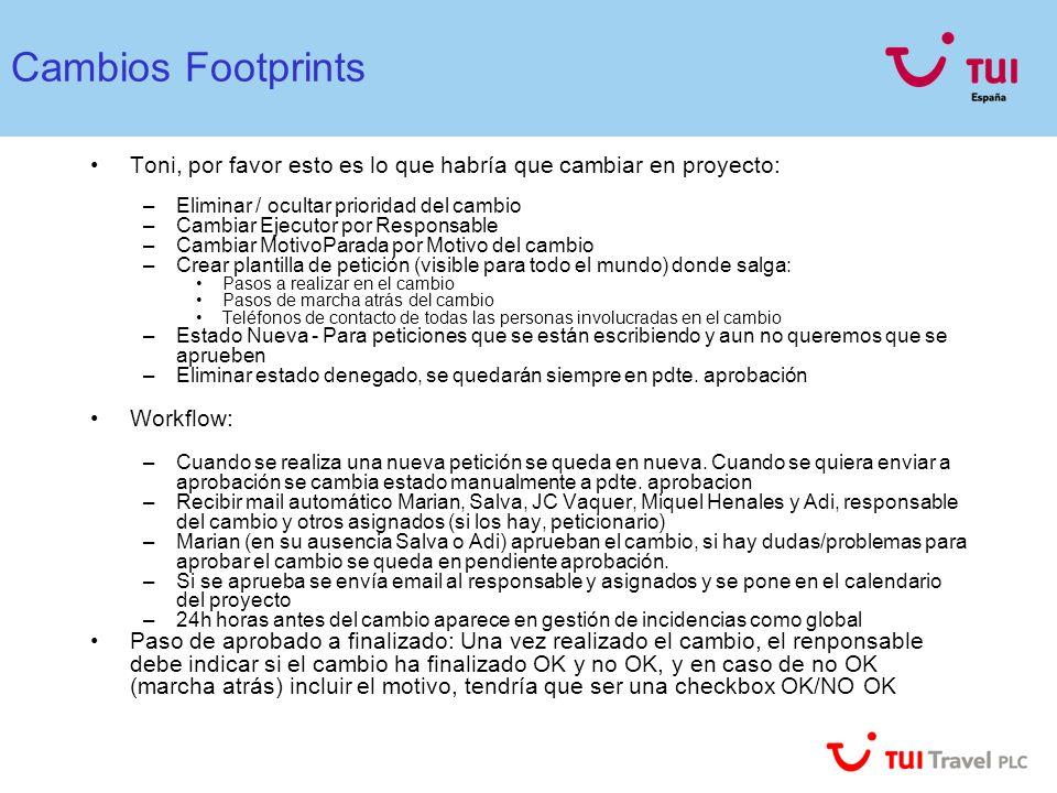 Cambios Footprints Toni, por favor esto es lo que habría que cambiar en proyecto: Eliminar / ocultar prioridad del cambio.