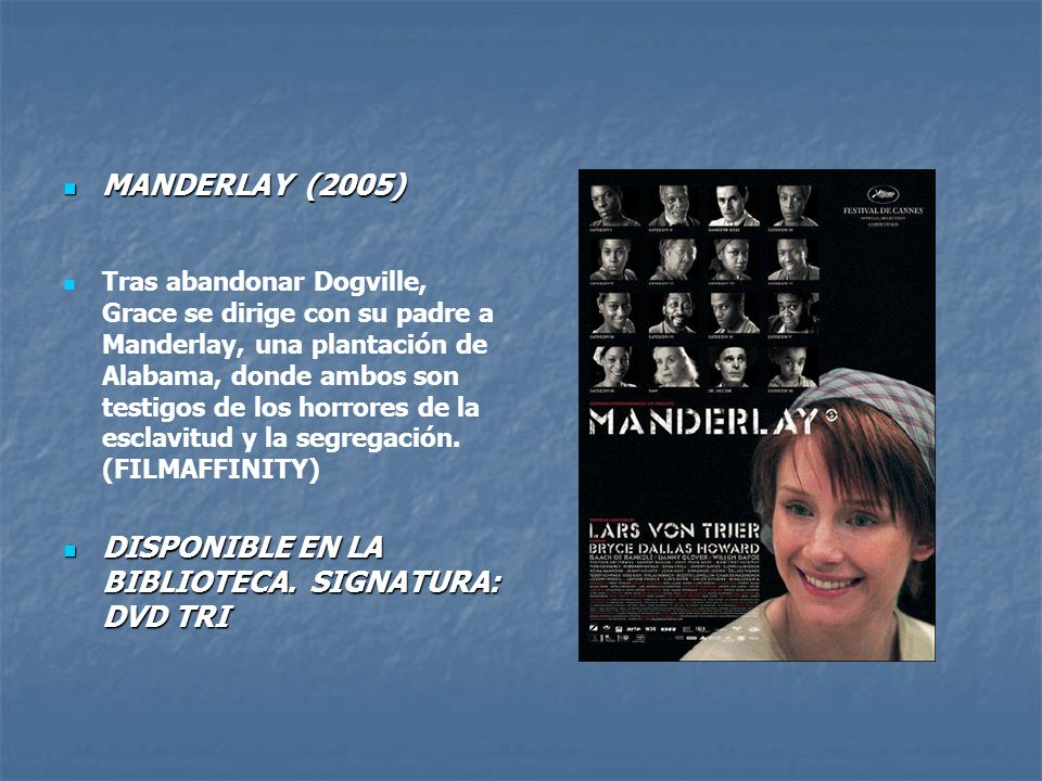 DISPONIBLE EN LA BIBLIOTECA. SIGNATURA: DVD TRI