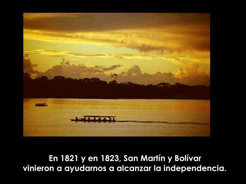 En 1821 y en 1823, San Martín y Bolívar
