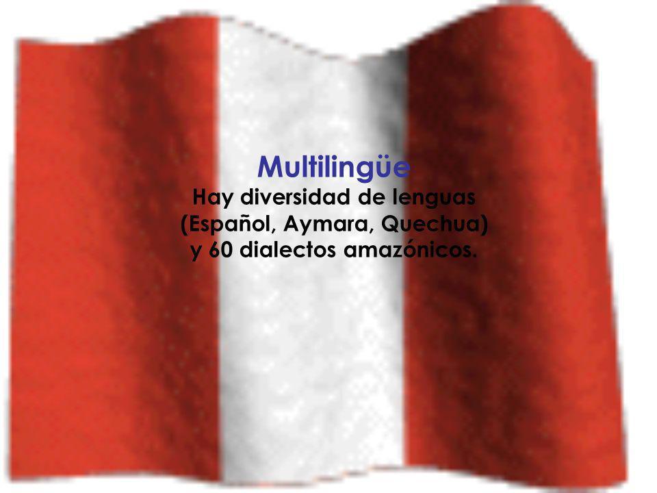 Multilingüe Hay diversidad de lenguas (Español, Aymara, Quechua)
