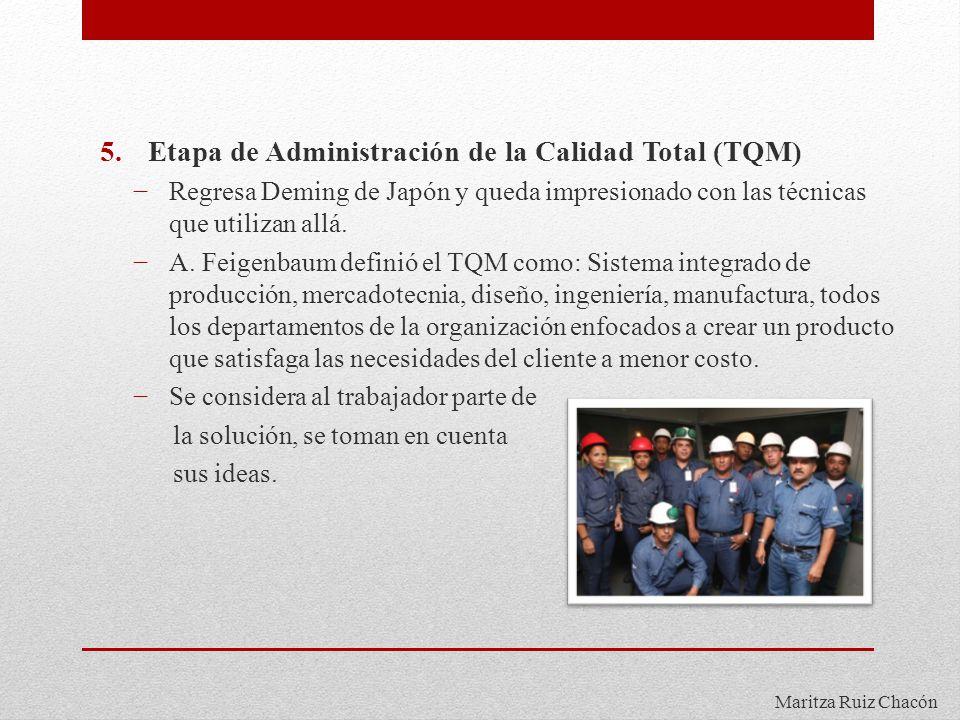 Etapa de Administración de la Calidad Total (TQM)