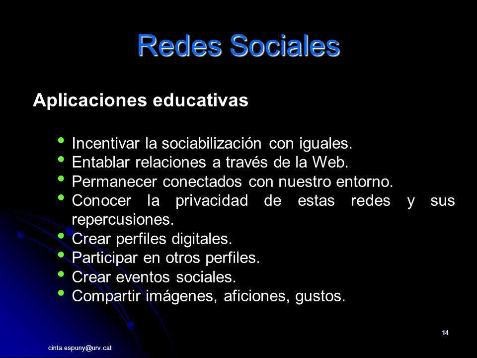 Redes Sociales Aplicaciones educativas