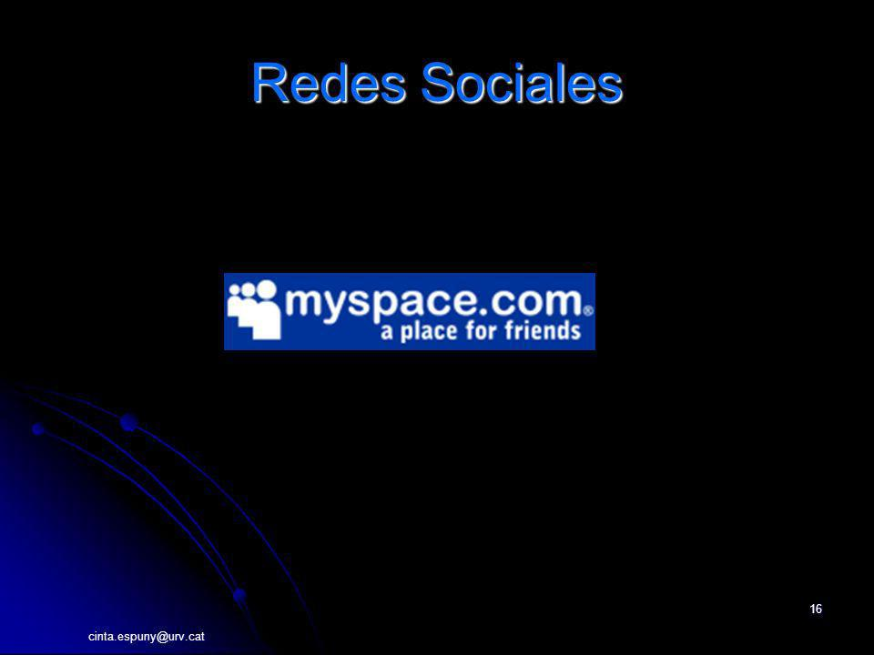 Redes Sociales http://myspace.com cinta.espuny@urv.cat
