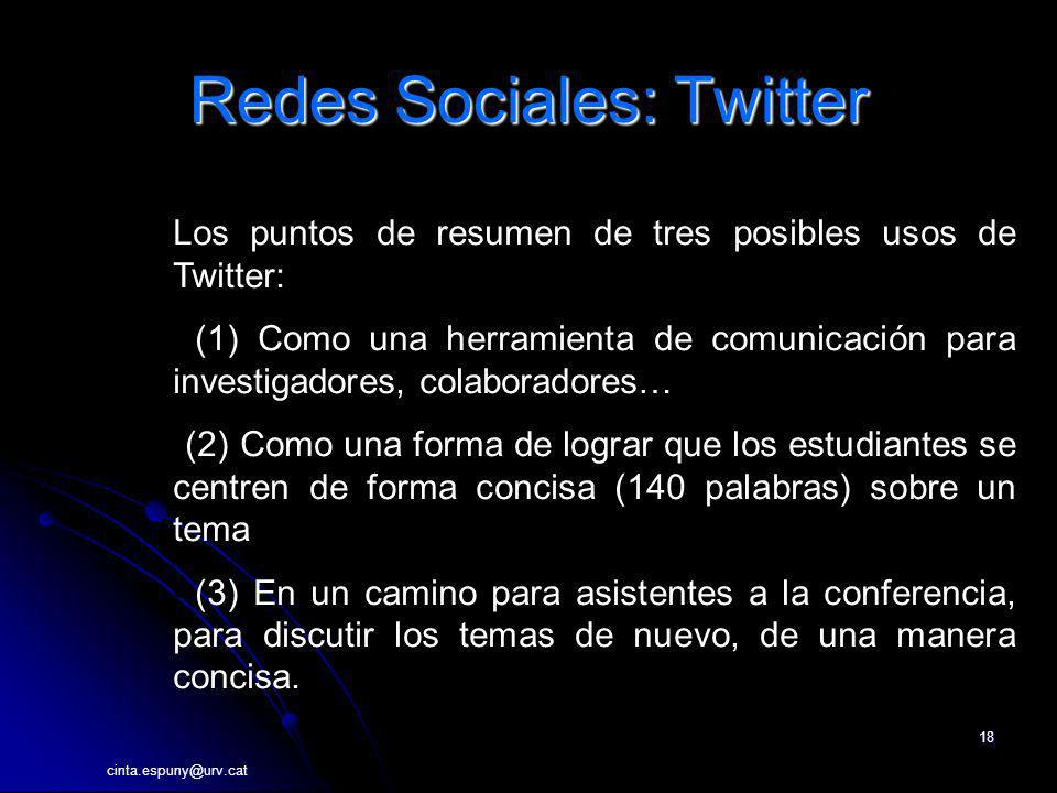 Redes Sociales: Twitter