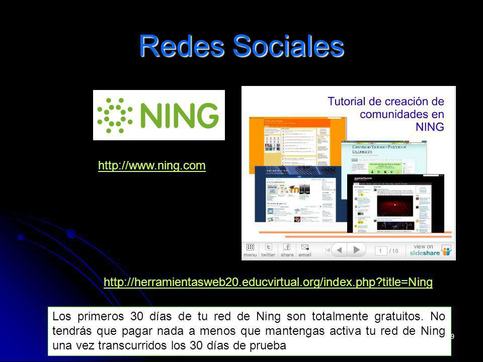 Redes Sociales http://www.ning.com/