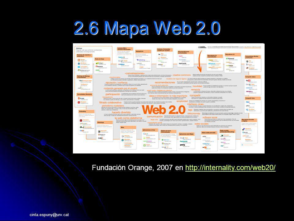 2.6 Mapa Web 2.0 http://internality.com/web20/files/mapa-web-20.pdf. http://wiki.startup2.eu/index.php/Mapa_Web_2.0.