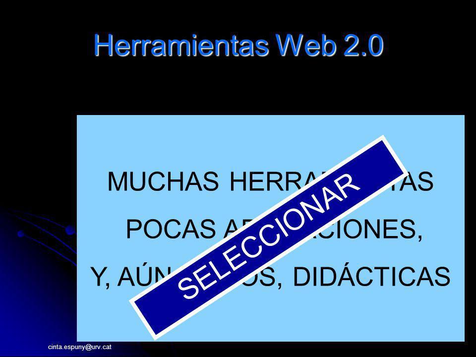 Herramientas Web 2.0 SELECCIONAR MUCHAS HERRAMIENTAS