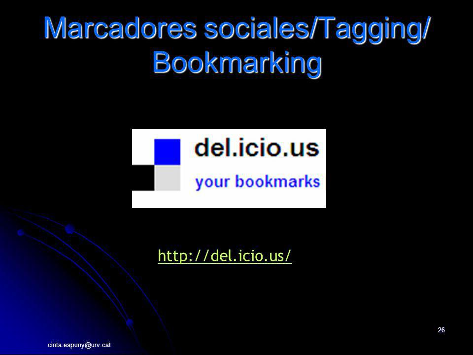 Marcadores sociales/Tagging/ Bookmarking
