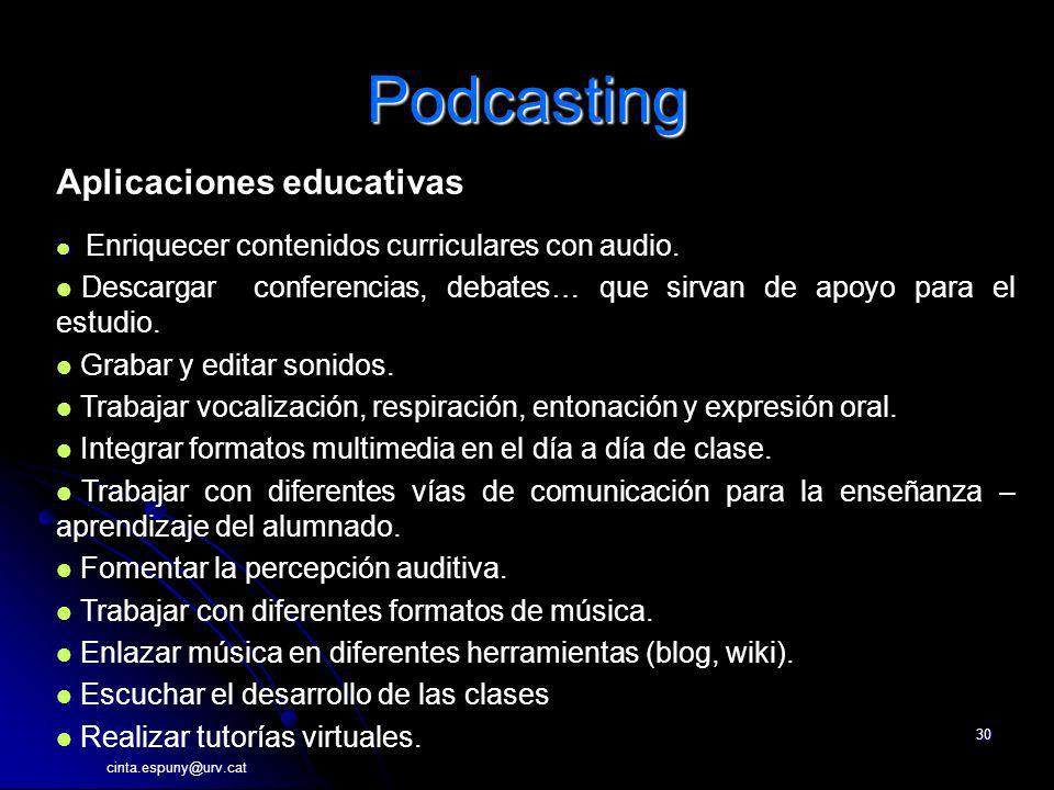 Podcasting Aplicaciones educativas