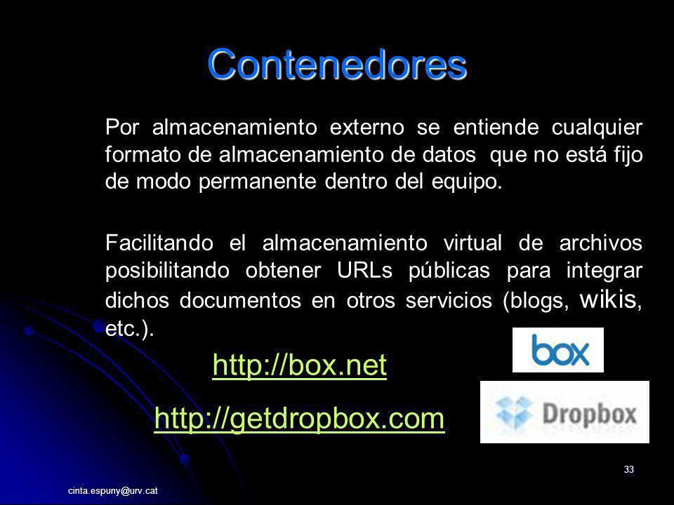 Contenedores http://box.net http://getdropbox.com
