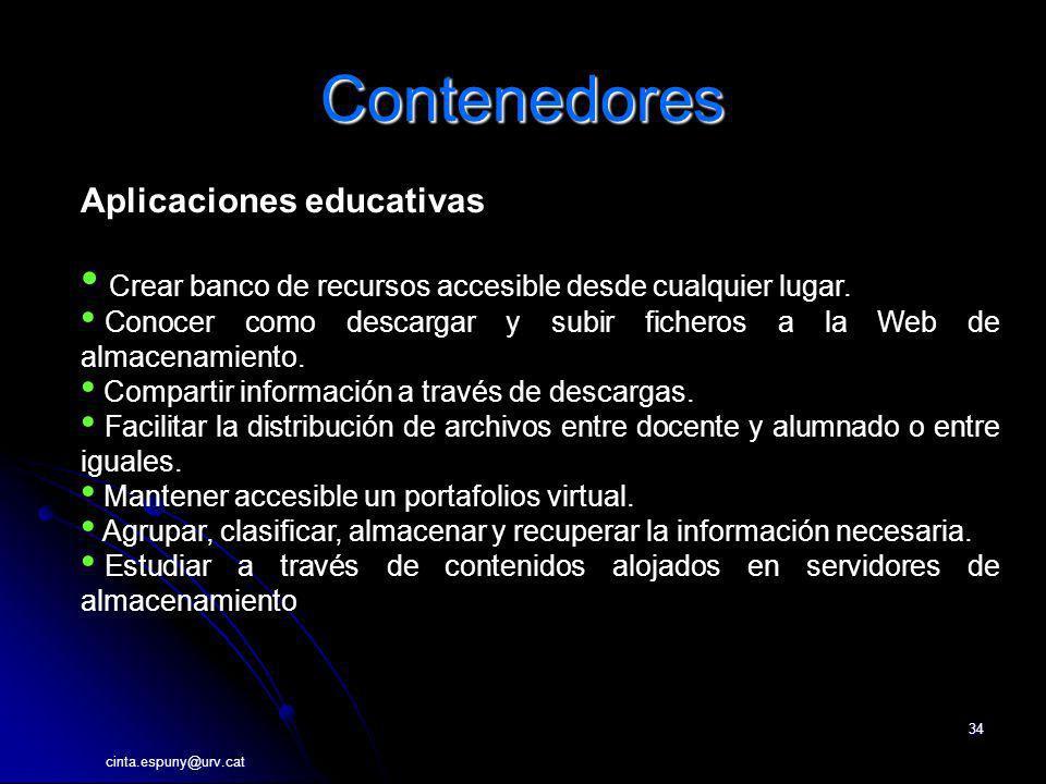 Contenedores Aplicaciones educativas