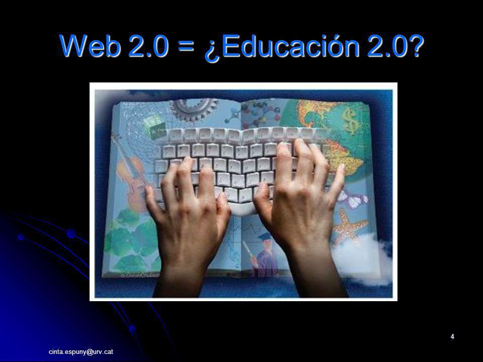 Web 2.0 = ¿Educación 2.0 cinta.espuny@urv.cat