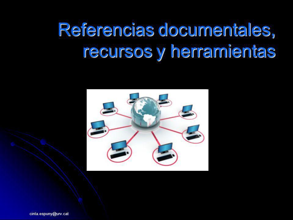 Referencias documentales, recursos y herramientas