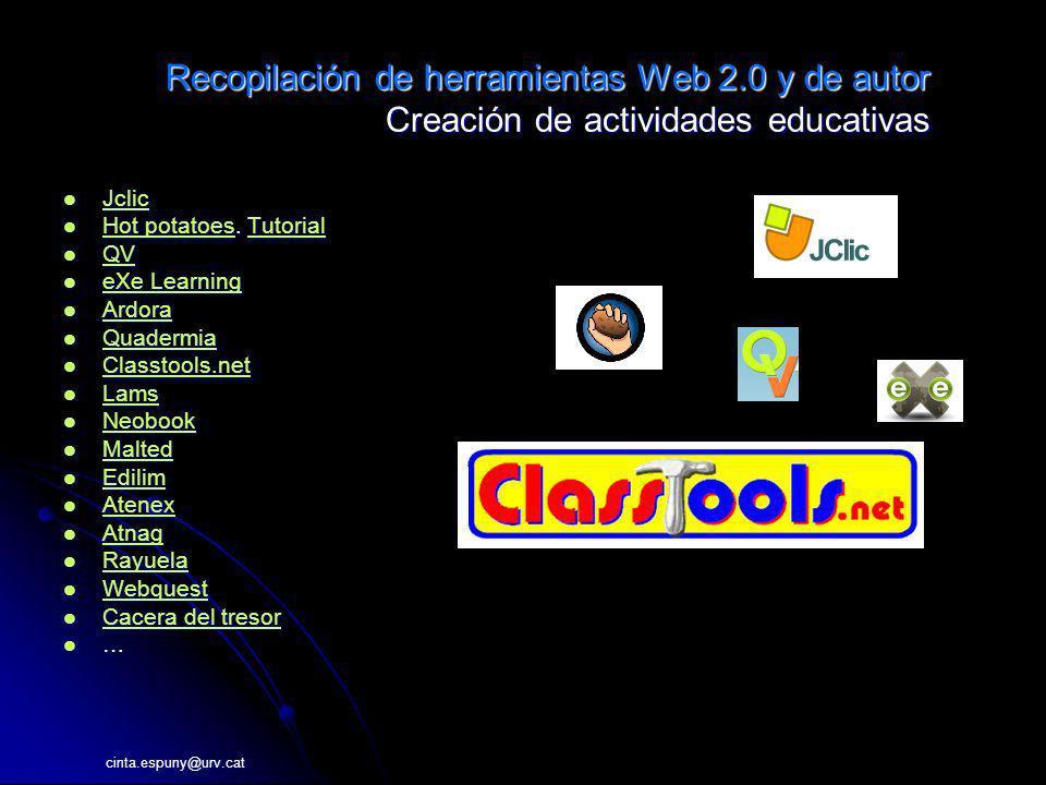 Recopilación de herramientas Web 2