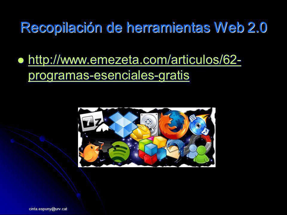 Recopilación de herramientas Web 2.0