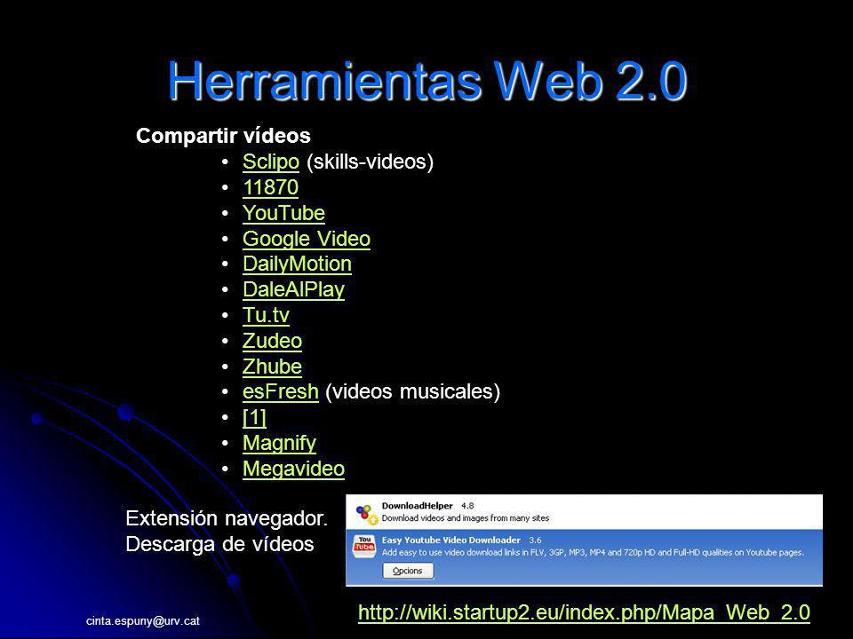 Herramientas Web 2.0 Compartir vídeos Sclipo (skills-videos) 11870