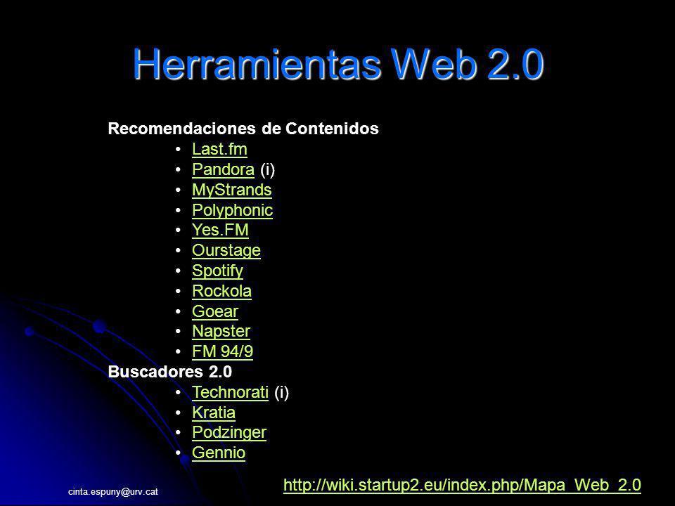 Herramientas Web 2.0 Recomendaciones de Contenidos Last.fm Pandora (i)