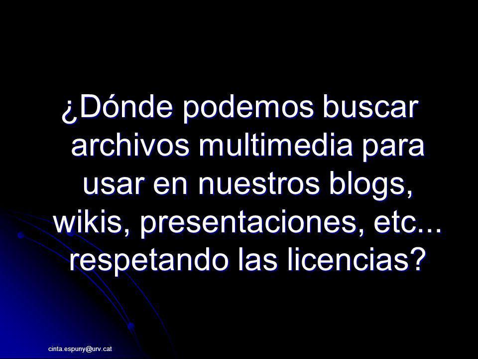 ¿Dónde podemos buscar archivos multimedia para usar en nuestros blogs, wikis, presentaciones, etc... respetando las licencias