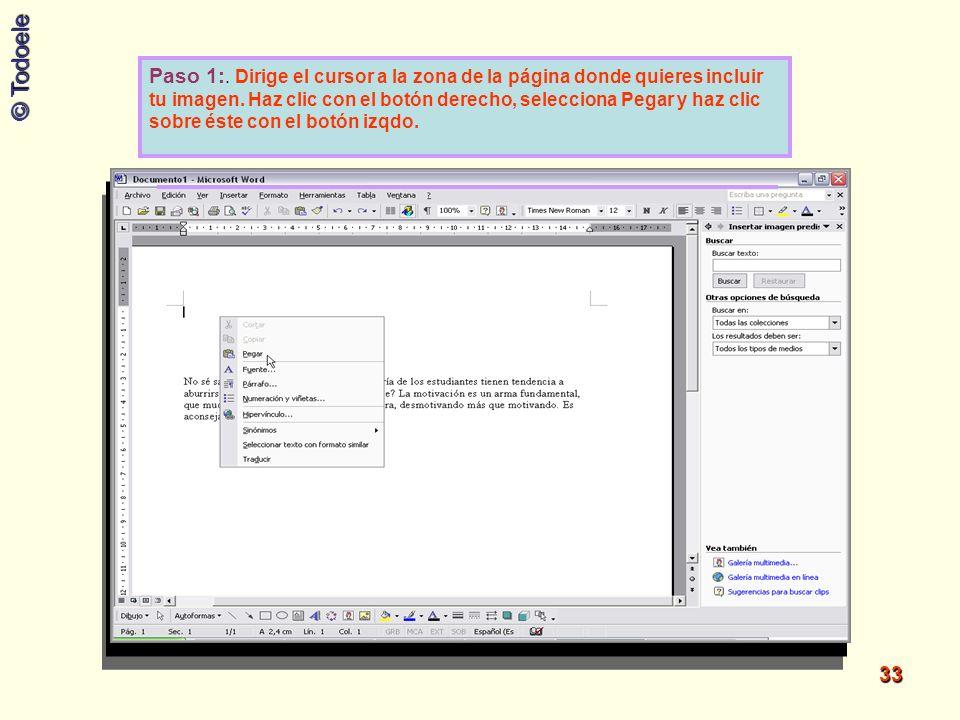 Paso 1:.Dirige el cursor a la zona de la página donde quieres incluir tu imagen.