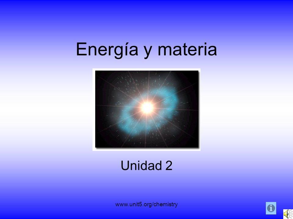 Energía y materia Unidad 2 www.unit5.org/chemistry