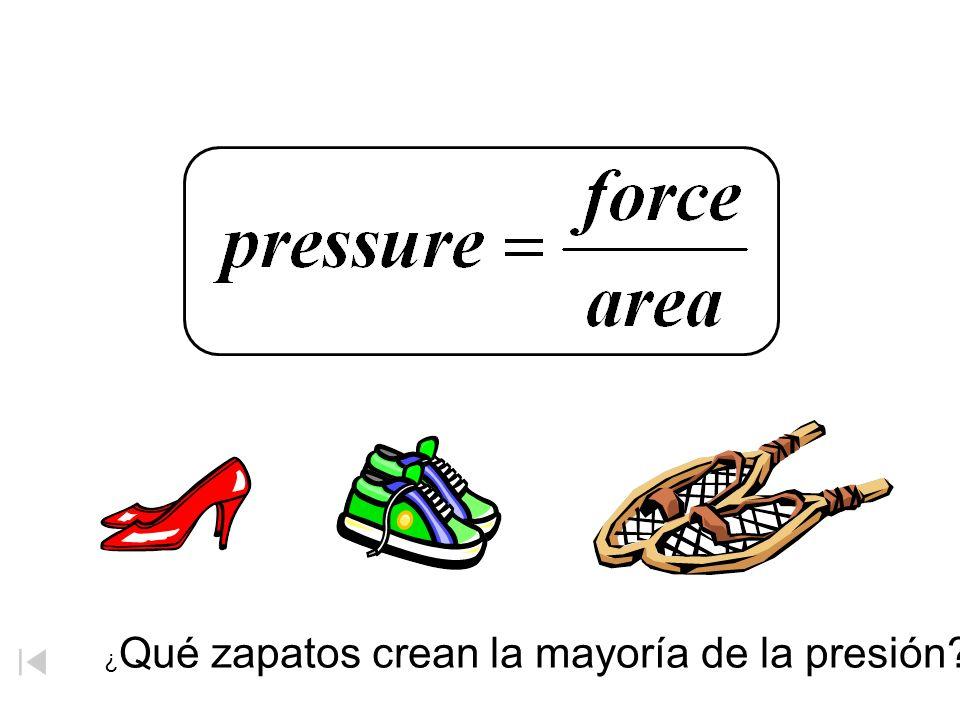 Presión ¿Qué zapatos crean la mayoría de la presión