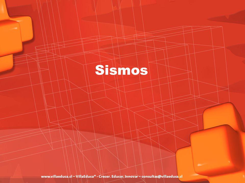 Sismos www.villaeduca.cl – VillaEduca® - Crecer. Educar. Innovar – consultas@villaeduca.cl